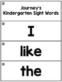 Journey's Kindergarten High Frequency Word Flashcards