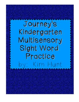 Journey's Kindergarten Multisensory Sight Word Practice
