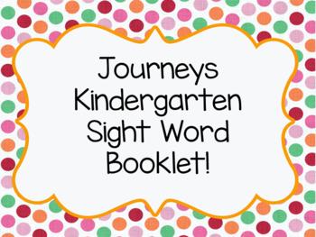 Journey's Kindergarten Sight Word Booklet