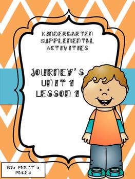 Journey's Kindergarten Unit 1 Lesson 1 Supplemental Activities