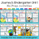 Journey's Kindergarten Unit 1 Supplemental Materials (includes week 1 and 2)