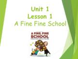 Journey's Lesson 1- Grade 3 A Fine, Fine School Vocab Powerpoint
