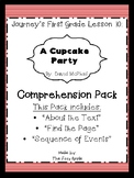 "Journey's Lesson 10: ""A Cupcake Party"" Comprehension Pack"