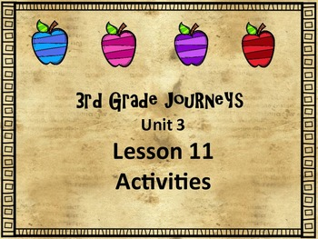 Journey's 3rd Grade Lesson 11