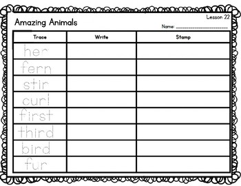 Journey's Lesson 21-25 Spelling Words - Trace, Stamp, Write