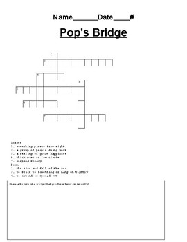 Journey's Lesson 4 Pop's Bridge Crossword Puzzle