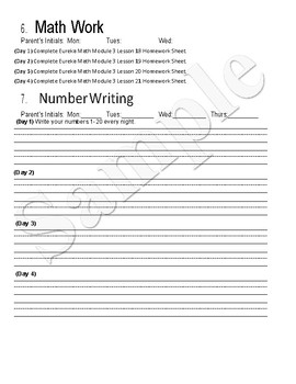Journey's Lessons 11-15 Weekly Homework with Eureka Math