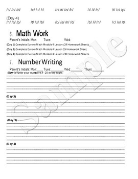 Journey's Lessons 21-25 Weekly Homework with Eureka Math