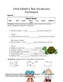Journey's Little Rabbit's Tale Vocabulary Homework