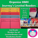Journey's Lessons: Organization 2nd Grade Dividers for Lev