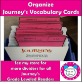 Journey's Vocabulary Cards 4th 5th 6th Grade Dividers