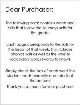 Journey's Phonics Application/ Oral Reading Assessment Unit 3