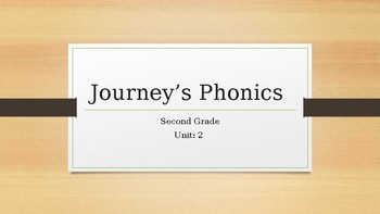 Journey's Phonics Lesson- Unit 2