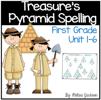 Journey's Pyramid Spelling Practice Pages, First Grade, Units 1-6
