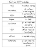 Journey's Reading Resource Unit 1 Vocabulary Destiny's Gif