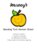 Journey's Reading Test Answer Sheet - Make grading the tests so easy!