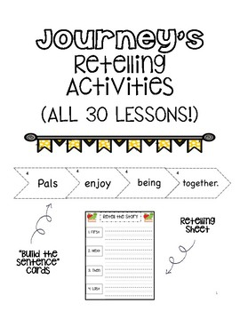 Journey's Retelling Activities