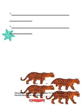 Journey's Seasons Spelling Homework
