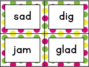Journey's Second Grade Spelling Cards [Bright Polka Dots]