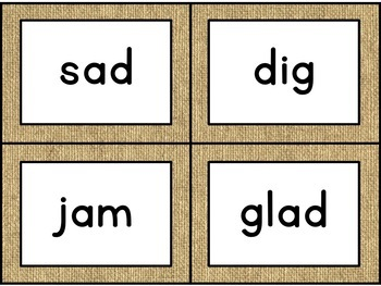 Journey's Second Grade Spelling Cards [Burlap]