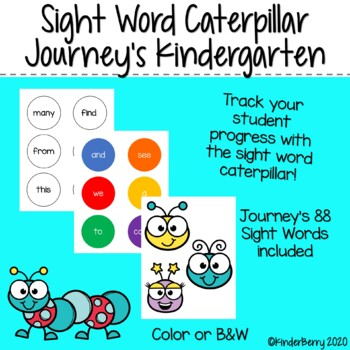 Journey's Sight Word Caterpillar Kindergarten
