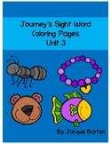 Journey's Unit 3 Sight Word Coloring