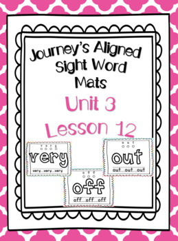 Sight Word Play-doh Mats--First Grade Journey's Unit 3 Lesson 12