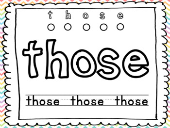 Sight Word Play-doh Mats--First Grade Journey's Unit 3 Lesson 15