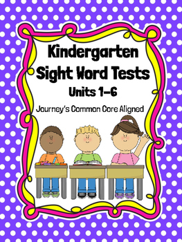 Journey's Sight Word Tests