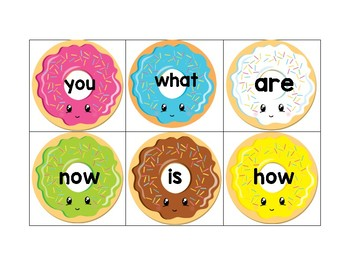 Journey's Sight Words- Donut Cards