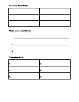 Journey's Spelling Homework Unit 4