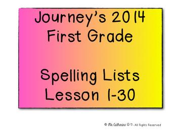 Journey's Spelling List / 1st Grade