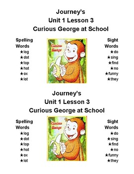 Journey's Spelling Lists