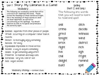 Journey's Spelling and Vocab