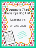 Journey's Third Grade Spelling Lists Lessons 1-5
