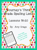 Journey's Third Grade Spelling Lists Lessons 16-20