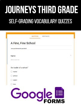 Journeys Third Grade Vocabulary Assessments (Google Forms)