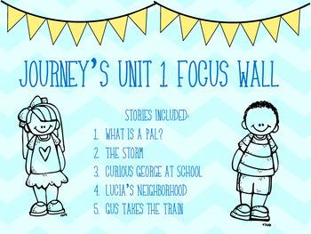 Journey's Unit 1 Focus Wall