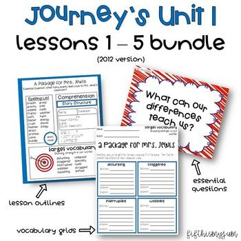 Journey's Unit 1 Grade 5 ELA Bundle