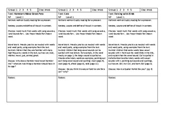 Journey's Unit 1, Lesson 3 Guided Reading Level Readers Lesson Plans