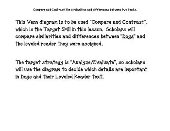 Journey's Unit 1, Lesson 3 Venn Diagrams for Guided Reading Lessons