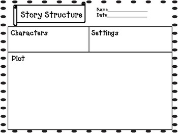 Journey's Unit 1, Lessons  5 Story Structure graphic Organizer