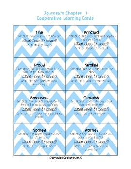Bundle! Journey's Unit 1 Quiz-Quiz-Trade Vocabulary Cards #ChristmasinJuly