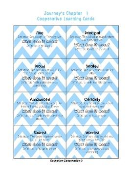 Bundle! Journey's Unit 1 Quiz-Quiz-Trade Vocabulary Cards