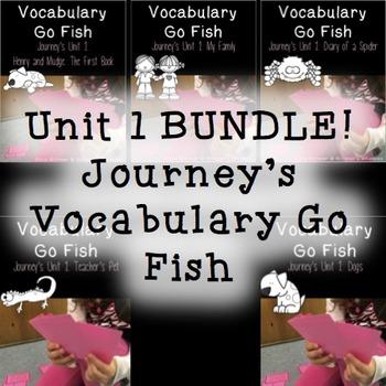 Journey's Unit 1 Vocabulary Go Fish {BUNDLE}