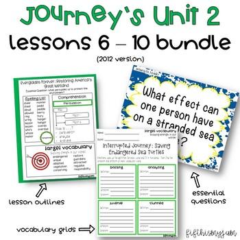 Journey's Unit 2 Grade 5 ELA Bundle