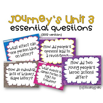 Journey's Unit 3 Grade 5 Essential Questions