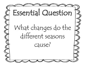 Journey's Unit 3, Lesson 13 Focus Wall - Seasons