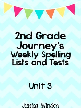 Journey's Unit 3 Spelling Bundle
