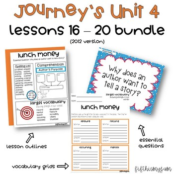 Journey's Unit 4 Grade 5 ELA Bundle